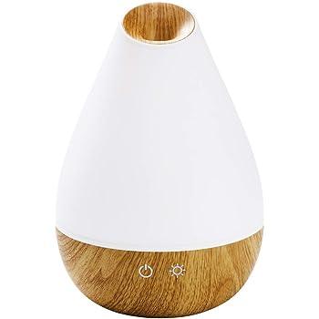 Promed Difusor de Aroma AL-1300 WS de 1300 ml, Humidificador de Aire de Ultrasonidos de 1.3 Litros, Humidificador de Ambientes, Lámpara Aromática con Luz LED en 7 Colores, Aromaterapia, 158 x 224