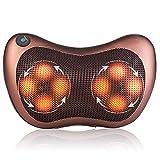 Erasky Massagekissen Shiatsu mit Infrarot Wärmefunktion Elektrische Massagegeräte für Nacken Schulter Rücken 8 beheizte 3D-Rotierenden Massageköpfen zu Hause, Büro und Auto