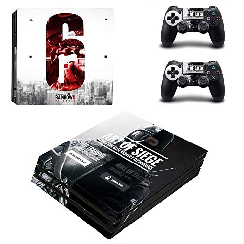 XIANYING Rainbow Six Siege Ps4 Pro Skin Sticker Decal Vinyl for Playstation 4 Console and 2 Controllers Ps4 Pro Skin Sticker