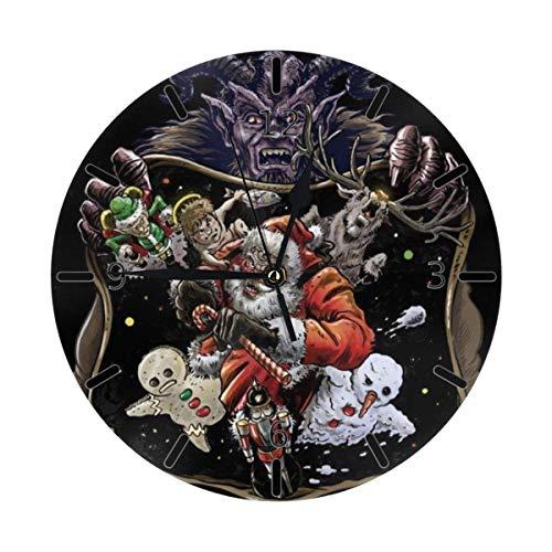 Eileen Max Weihnachten Krampus Weihnachtsmann Nussknacker Elch Mini Themed Printed Pattern Design Wanduhr