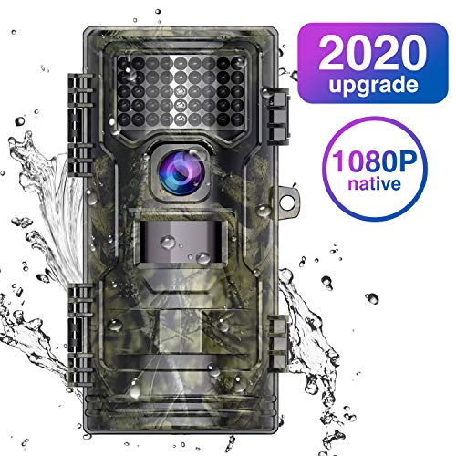 WiMiUS H4 Wildkamera Fotofalle 20MP Native 1080P Full HD mit Bewegungsmelder 20M Nachtsicht wasserdichte Jagdkamera Überwachungskamera mit 2,4 Zoll LCD Display