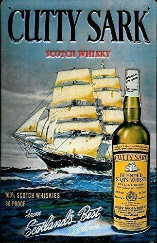 Nostalgische Welten Andreas Schmidt Cutty Sark Scotch Whisky Plaque en Métal Tin Sign 20 X 30 CM
