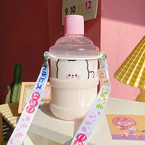 Chanety,taza de agua aislada,taza de agua Barato creativo de plástico taza de paja a prueba de gota a prueba de agua taza de dibujos animados taza a prueba de fugas al aire libre taza de viaje kawaii