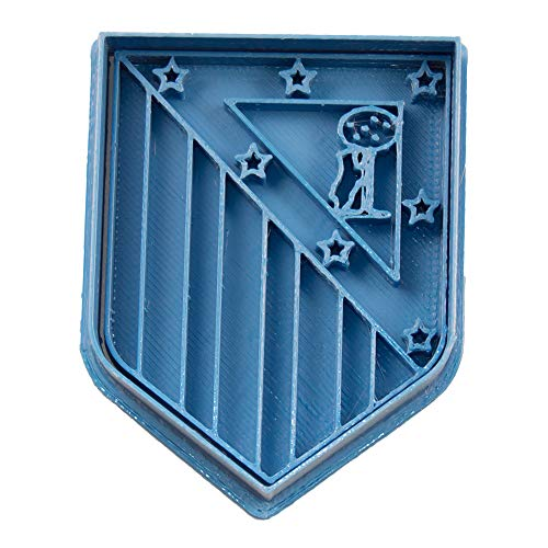 Cuticuter Fútbol Atletic De Madrid Cortador de Galletas, Azul, 8x7x1.5 cm