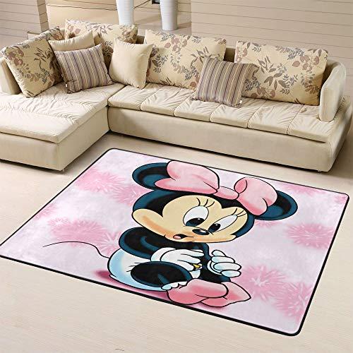 Zmacdk Mickey Minnie Mouse Kinderteppich für draußen, Terrassenteppich, leicht zu reinigen, Teppich für Kindergarten, 150 x 240 cm, 3D Mickey Minnie Maus