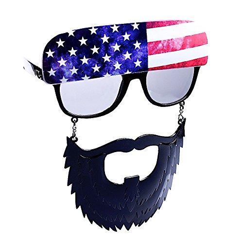Sun-Staches Costume Sunglasses American Trucker Party Favors UV400