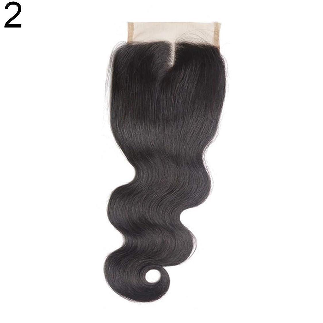 理論展望台徐々にslQinjiansav女性ウィッグ修理ツールブラジルのミドル/フリー/3部人間の髪のレース閉鎖ウィッグ黒ヘアピース