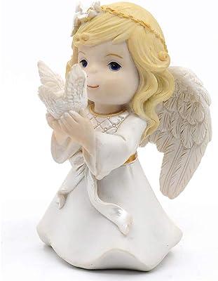 Kneeling Girl Angel and Peace Dove Figurine Keepsake My First Communion
