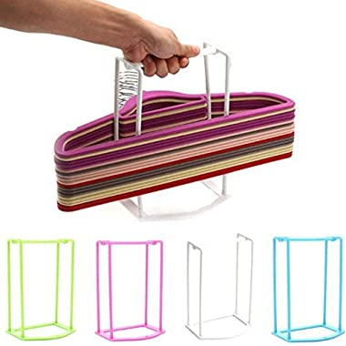 Lucky Fitness 1pcs plastic organizer clothes hanger holder stacker storage rack home storage organza tion hangers