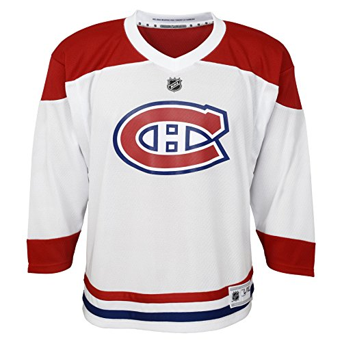 Outerstuff Youth NHL Replica Jersey-Away Montreal Canadiens, White, Toddler One Size (2T-4T)