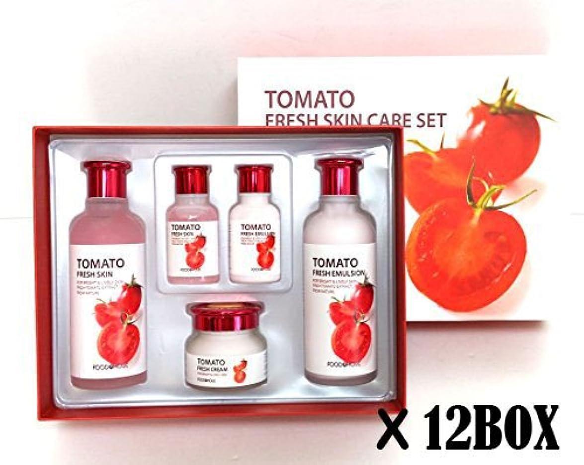 安らぎバラ色タバコ[Foodaholic] トマトフレッシュスキンケアセット (12BOX)/Tomato Fresh Skin Care Set (12BOX)/明るい、水分、バイタリティ、ブライトニング/bright, Moisture,Vitality,Brightening/韓国化粧品/Korean cosmetics [並行輸入品]