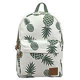 Cute Pineapple Backpack for College Lightweight Canvas Bookbags for Women Travel Rucksack