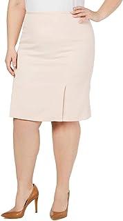 Calvin Klein Womens Plus Twill Pleated Pencil Skirt Pink 16W