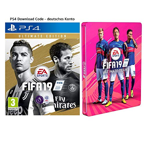 FIFA 19: Ultimate Edition + Steelbook | PS4 Download Code - deutsches Konto [Importación alemana]