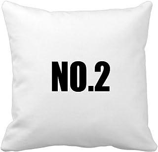 DIYthinker Número de la Suerte No.2 Nombre Plaza Almohadilla de Tiro Inserte la Cubierta del Amortiguador del sofá Principal Regalo de la decoración