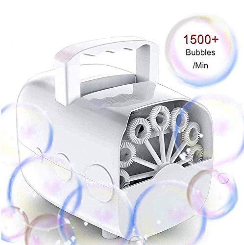 Seifenblasenmaschine, JanTeelGO Seifenblasen für Hochzeit, Seifenblasen Maschine Tragbare Angetrieben von Batterie oder USB für Hochzeit, Geburtstagsfeier, Festival (weiß)
