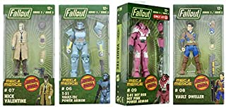 Take Over Vault Tec Corp Series 2 Mega Pack FALLOUT: T-51 Vault Tec Power Armor, Nick Valentine, Vault Dweller, X-01 Hot Rod Hot Pink Power Armor (Exclusive) Buildable Character Figure 4-Pack