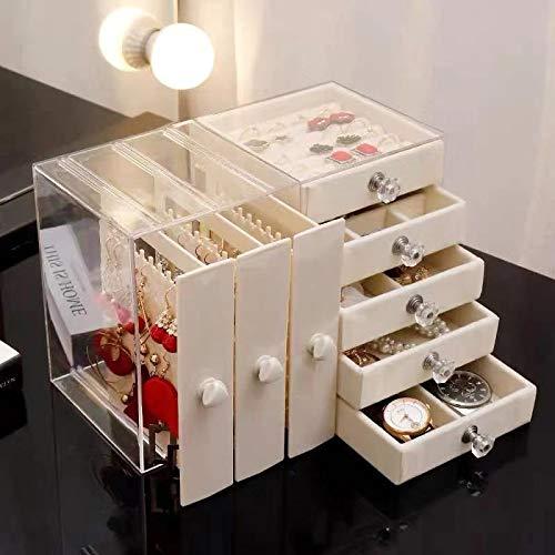 CLSMYLFB - Portagioie trasparente per orecchini, collane, scaffali per gioielli