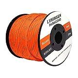 Lukinsen パラコード 9芯 4mm 30m パラシュートコード 耐荷重280kg ガイロープ テントロープ キャンプ アウトドア アクセサリー制作用 (反射 オレンジ, 30m)
