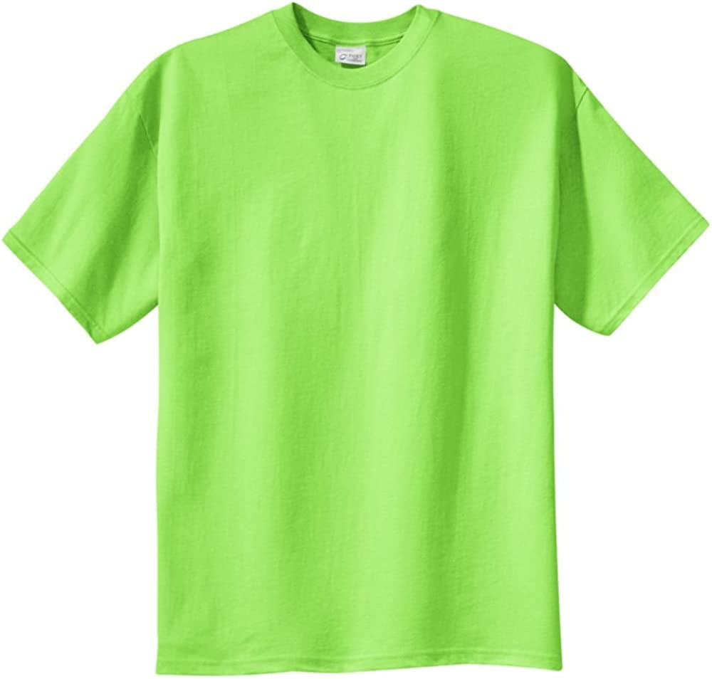Port & Company Tall 100% Cotton Essential T-Shirt, Lime, 3XLT