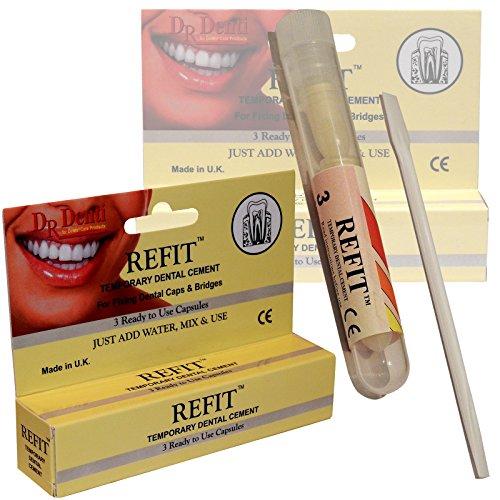 Dr Denti, cemento per riparazione denti temporanea di emergenza, corone, ponti, faccette