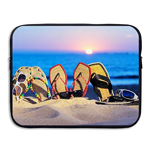 15 Inch Laptop Sleeve Water-Resistant Laptop Bags Beach Flip Flop Briefcase Sleeve Case Bags