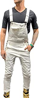 OCEYEE Mens Denim Dungarees Cargo Slim Overalls Suspender Trousers Stretch Stonewash Jeans Jumpsuits Playsuits Overalls