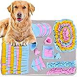 Nabance Schnüffelteppich Hunde Schnüffelrasen Hund Riechen Trainieren Matte Futtermatte Trainingsmatte intelligenzspielzeug Waschbar Faltbar rutschfest Hundespielzeug Schnüffelspielzeug Rosa Blau