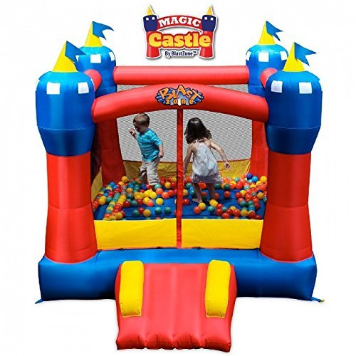 Blast Zone Magical Castle Inflatable Bounce House with Blower