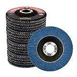 Profesional Ruedas de amolado de superficies 125 mm x 22.23 mm, 20 piezas, paquete de mezcla (5 x 40/60/80/120 granos cada una), discos de aleta Inox Discos lamelares para amoladoras angulares