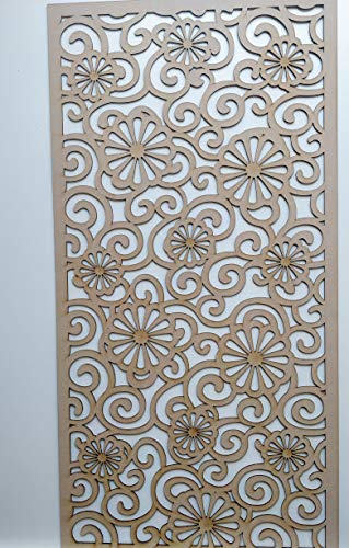 LaserKris C2 Heizkörperschrank, Wanddekoration, Perforierte MDF-Platte, 4 x 2 cm