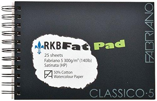 Fabriano : 5 : Watercolour Paper : Fat Pad : 25 Sheets : A4