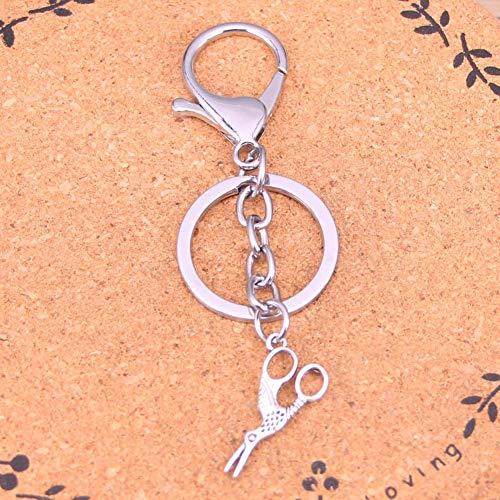 TAOZIAA creatieve verchroomde metalen sleutelhanger beste cadeau schaar sleutelhanger sleutelhanger