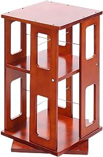 Porte-revues pour Enfants XJJUN 360 Degrés De Rotation, 3Layer Floor Stand Simple Bibliothèque De Bureau Debris Livre Armo...