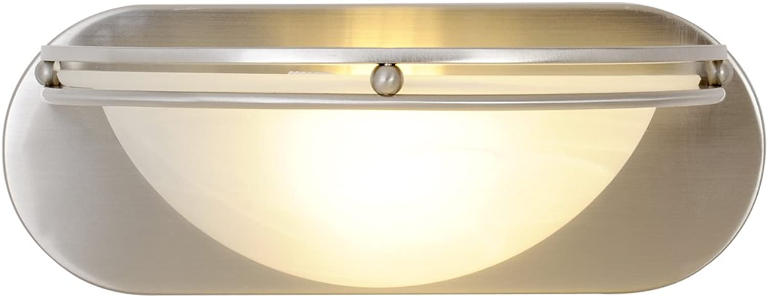 Monument 617616  Contemporary Vanity Fixture, Brushed Nickel, 12 In.