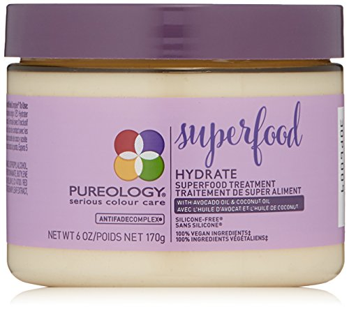 Pureology | Hydrate Superfood Treatment Hair Mask | For Dry, Color Treated Hair | Silicone-Free | Vegan | 6.0 oz.