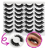 HeyAlice False Lashes Natural Look Eyelashes 14 Pairs Faux Mink Wispy Eye Lashes Short Fluffy 3D Cat Eye Thick Reusable Fake Eyelashes