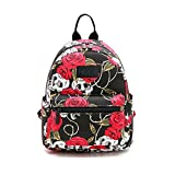 Fvstar Skull Girls Backpack Purse Mini Teens School Satchel Cute Lightweight Women Travel Backpack Polyester Outdoor Rucksack Daypack for Halloween Thanksgiving Christmas New Year Gifts