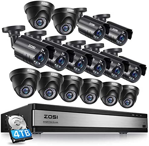 ZOSI 16CH 1080P Security Camera System Outdoor with 4TB Hard Drive 16Channel 1080P CCTV Recorder product image