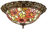 Lámpara de techo, luz de baño Lámparas de techo LED, lámpara de techo de techo de techo de manchas, decoración de flores de sol de montaje en color accesorios de iluminación de techo para sala de esta
