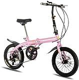 Vélo durable de haute qualité, Sports de plein air 16inch 6speed vélo pliant, ultra-léger en aluminium Cadre en alliage Gears Pliable vélos for hommes et femmes de banlieue Junior High School étudiant