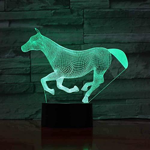 BJClight 3D-Illusionslampe LED-Nachtlicht für Kinder USB Colourful Football Touch Control 7 Farben Wechselleuchte für Bürotischlampe mit Multicolor Pen