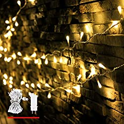 LED fairy lights, from myCozyLite®, 200 LED decorative fairy lights in 20 meters long, warm white, waterproof for inside and outside