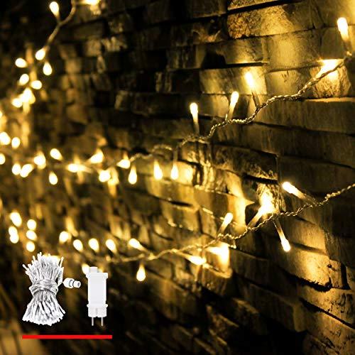 Guirlande Lumineuse, de myCozyLite®, 200 LED, Blanc Chaud, Lumières de Noël Décoratives pour Intérieur et Extérieur, Transformateur Basse Tension avec Minuterie. 20 Mètres