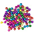 LaVieEnRose 100pcs 6mm For Christmas Copper Made Fashion Jingle Bell/ Small Bell/ Mini Bell for DIY Bracelet Anklets Necklace Knitting/ Jewelry Making Accessories