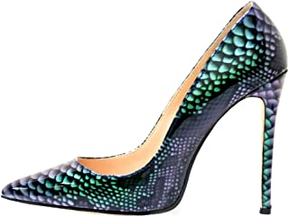 81f3e66721326 VOCOSI Pointy Toe Pumps for Women,Patent Gradient Animal Print High Heels  Usual Dress Shoes