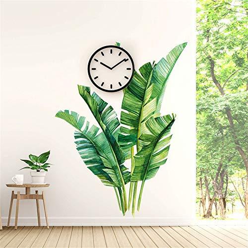 WandSticker Wandtattoo Wandbilder Wandaufkleber Tropische Pflanzen Wandsticker Blätter Wanddeko für Kinderzimmer Wohnzimmer Schlafzimmer (E)