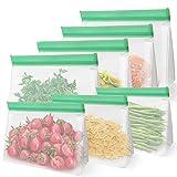 Monland Bolsas de Almacenamiento de Alimentos Reutilizables de Pie, 4 Bolsas de SáNdwich Reutilizables y 3 Bolsas de Refrigerios Reutilizables, Bolsas Cierre de Cremallera Extra Finas