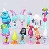 12pcs Trolls Toys, Mini Trolls - Action Figures,Trolls Toys Tall 1.18'-2.76'(3-6cm)