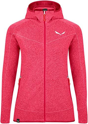Salewa Damen VEZZENA Dry W L/S HD Tee Blusen & T-Shirts, Virtual pink Melange, 48/42